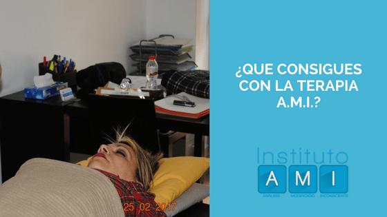 ¿Que consigues con la Terapia A.M.I.?